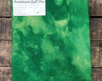 Hand-dyed Wool Fat Quarter -- Kelly Green -- FQ 55501
