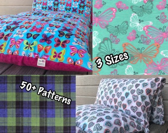 Pillow Bed - Pillow Mattress - 3 Different Sizes, Over 50 Patterns to Choose From