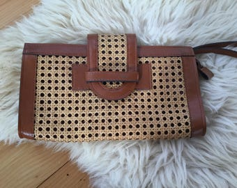 Vintage caned purse