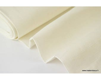 Ivory x50cm washed linen fabric