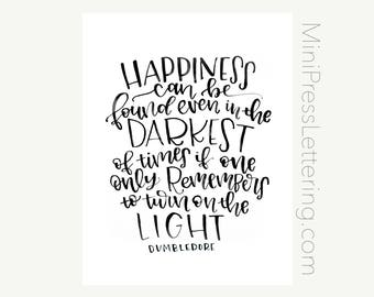 Instant Download - Printable - Dumbledore Quote Printable - Harry Potter and the Prisoner of Azkaban