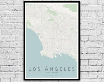 Los Angeles LA California USA City Street Map Print | Wall Art Poster | Wall decor | A3 A2