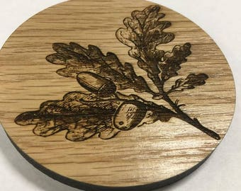 wood 4,6,9,12 laser cut wooden solid oak 8mm thick coasters drink mats