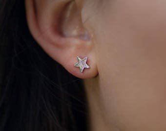 Stud | Earring | Silver | Minimalistic | Star