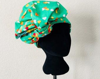 Head Wrap - African - Reversable - Kop Wrap - Braaf hart (braveheart)