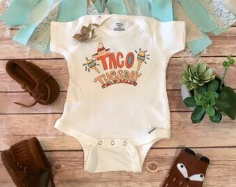 Taco Tuesday Onesie®, Baby Shower Gift, Unisex Baby Clothes, Baby Boy Clothes, Funny Onesies, Taco Onesie, Cute Baby Onesies, Hipster Baby