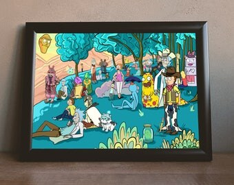 Rick and Morty Poster/Art Print A Sunday Afternoon in the Multiverse