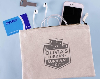 Personalised Urban Survival Kit Pouch