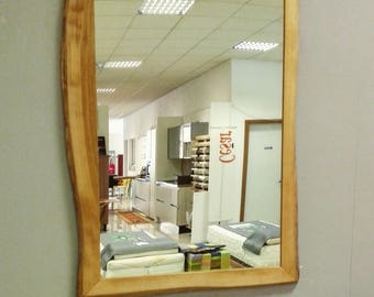 Handmade mirror with solid wood frame