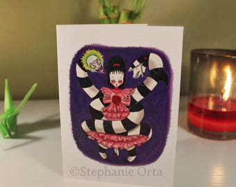 All Tied up- Lydia And Beetlejuice Card