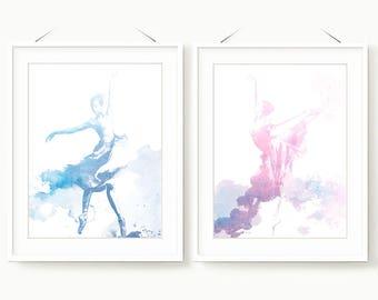 Set of Ballet prints , Ballet Printable Art , Nursery Ballet Art , Ballerina Posters Gift , Printable Ballet Nursery , Dancer silhouette