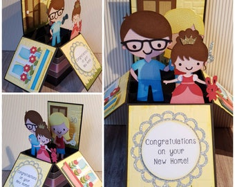 New home card, Congratulations on your New Home, Moving House Card, Congratulations Card