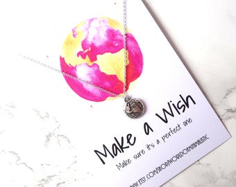 Wanderlust minimalist necklace, globe chain necklace, traveler jewelry, graduation gift, birthday jewelry, simple everyday necklace