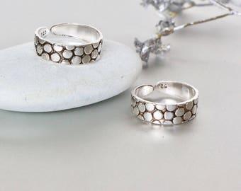 Snake Skin Toe Rings,Silver Toe Rings Set, Unisex Toe Band, Minimalist Toe Ring, Boho Jewelry, Toe Ring, Feet Accessories, (TS35)