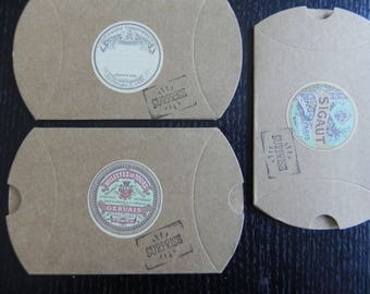 Set of 3 milk advertising old measuring 9 cm x 7 cm