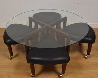 Adrian Pearsall Coffee Table and Stools