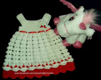 Handmade Crochet Baby Dress (Newborn, 0-3 Months, 3-6 Months)