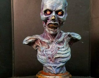 Mortimer the undead bust painted .