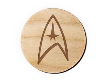 Star Trek Engraved Birch Coasters