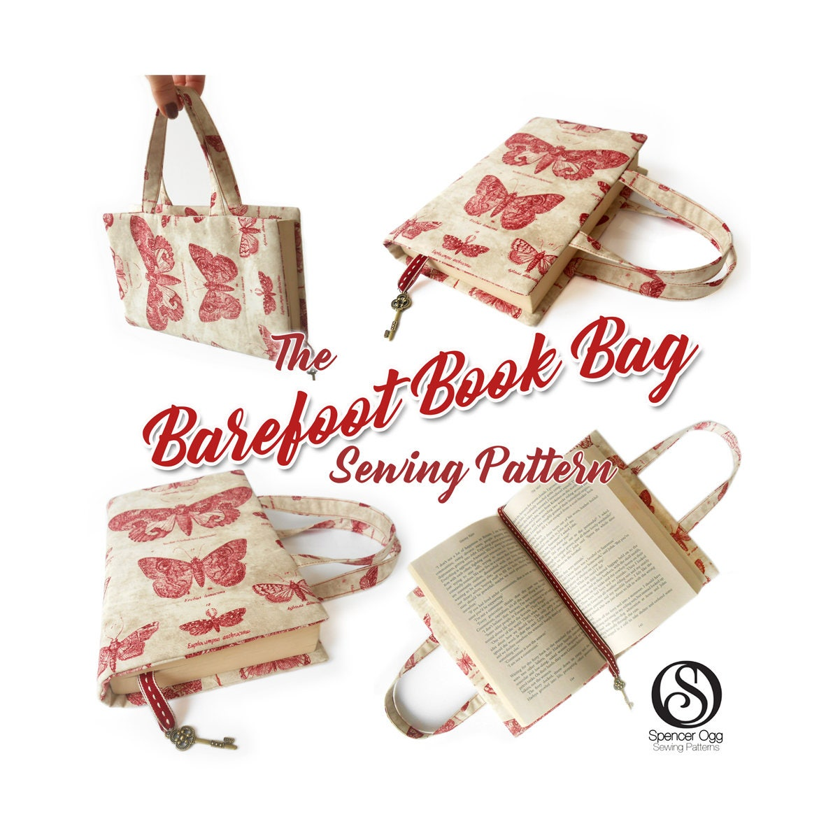 Book Cover Purse Tutorial : Book bag tutorial and pdf pattern cover make for
