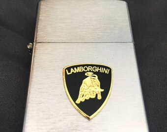 Lamborghini Brushed Silver Windproof Lighter