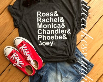 Friends shirt tv show ross rachel phoebe monica chandler joey