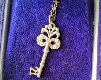 Half Price - Sterling Silver 21st Birthday Key Pendant on chain