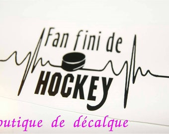 Decal Cup finished hockey Fan
