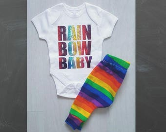 Cake smash outfit, baby leggings, toddler leggings, Rainbow outfit, Rainbow baby, Baby boy clothes, Baby girl clothes, Unisex outfit,