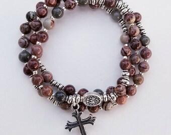 Artistic Jasper Rosary Bracelet