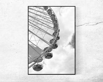 Ferris wheel 04 Wheel photography photography poster black and white from 45 x 30 cm