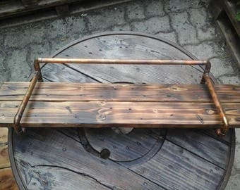 """Shelf type """"INDUS"""" copper and wood pallet"""