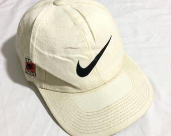 Vintage 90s Nike big swoosh hat