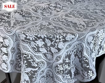 Vintage Grey Lace Tablecloth/Overlay, Gray Lace Small Tablecloth, Grey  Tablecloth , Vintage