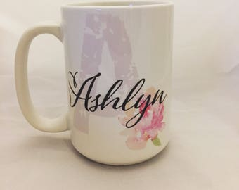 Pretty Personalized mug, what a great gift