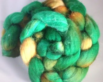 """Polwarth  handdyed roving """"into the woods"""""""