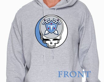 Grateful Dead inspired Titans Steal your face hooded sweatshirt