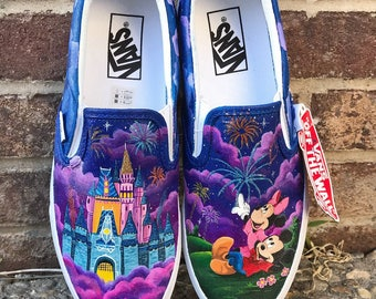 Minnie and Mickey painted shoes