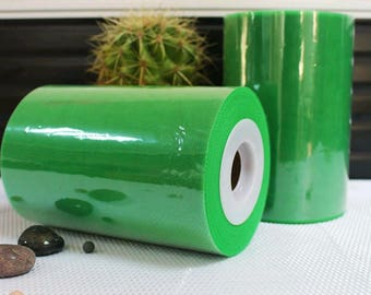 Tulle roll high quality Green 15 cm x 82 m for tutu and decoration.