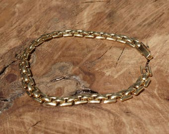 Delicate Gold Plated Bracelet, Ladder Style Links