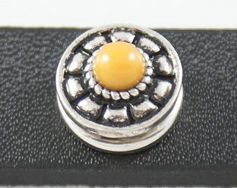 Item# 3136--- 12mm Yellow Bead w/Trim Snap (FREE Shipping Coupon Code in Description)