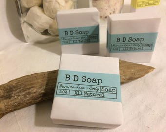 Natural Exfoliating Pumice Face & Body Soap (Lemongrass) Handmade,vegan,Brendadsoap,gifts,vegan.