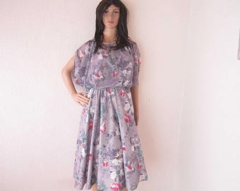True 70s vintage dress vintage dress with flowers M