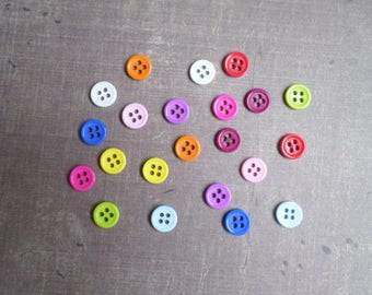 160 buttons mixed colors 8 mm 4 holes