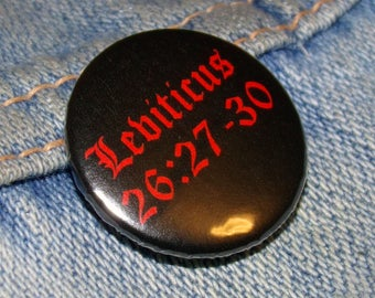Leviticus 1-inch Pin Back Badge
