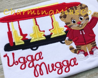 Daniel tiger inspired ugga mugga top