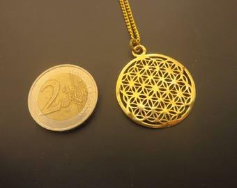 PENDANT FLOWER of LIFE mandala with chain