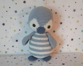 crocheted Blue Penguin cuddly