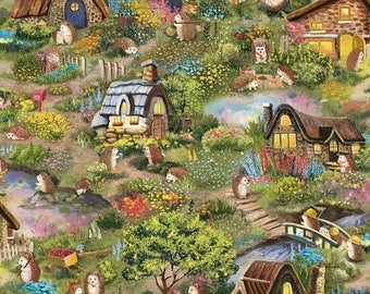 Sale Multi Hedgehog Village from the Hedgehog Village Collection by Judy Hansen for Paintbrush Studios