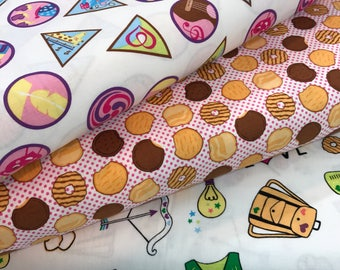 Bundle of 3 Girl Scout Fabrics in White from the Girl Scouts Collection by Riley Blake, Choose the Cut, Girl Scouts